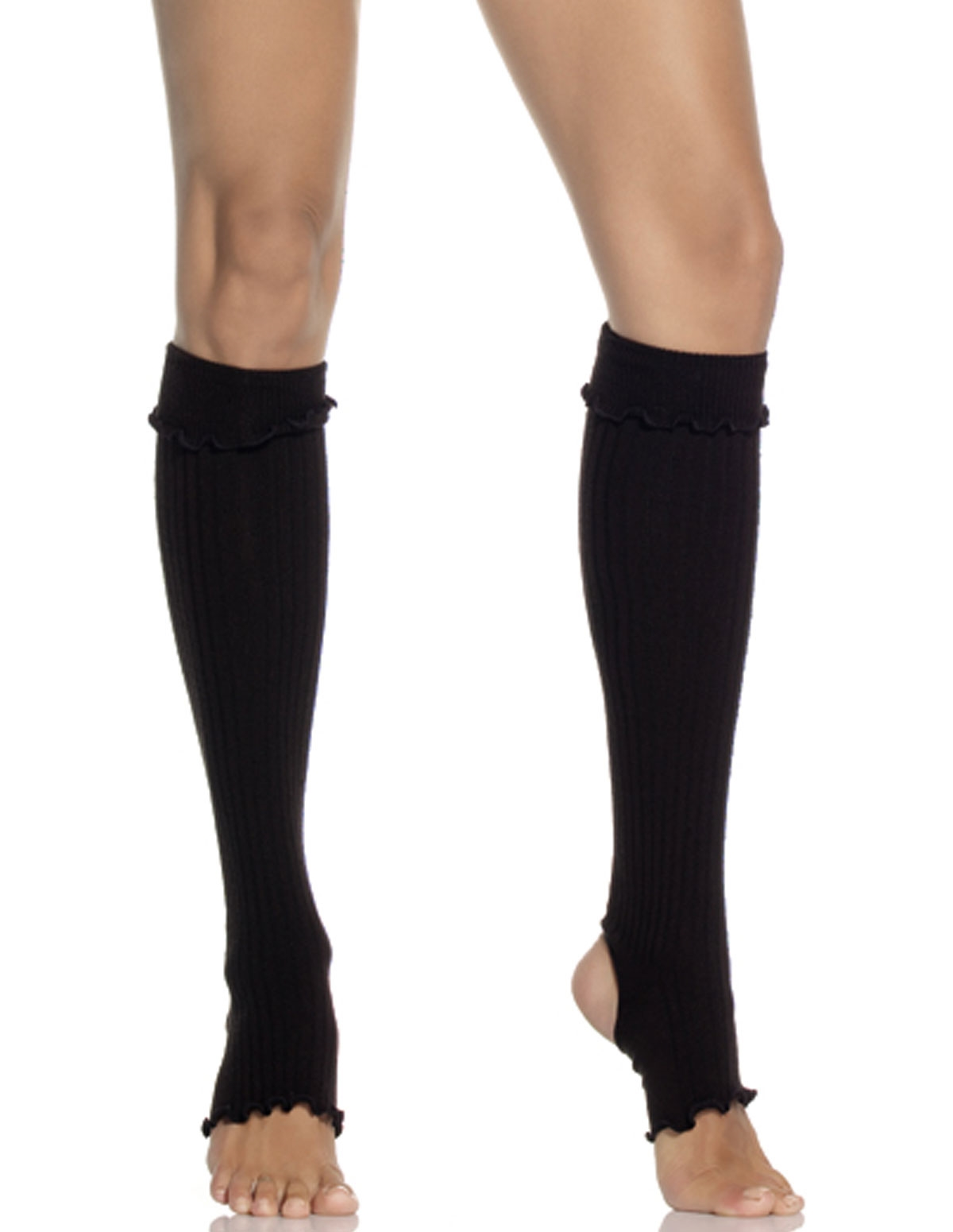 Acrylic Ribbed Stirrup Leg Warmers