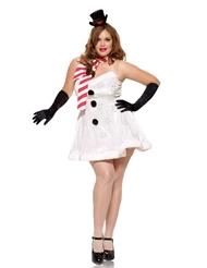 MISS SNOWMAN COSTUME - PLUS