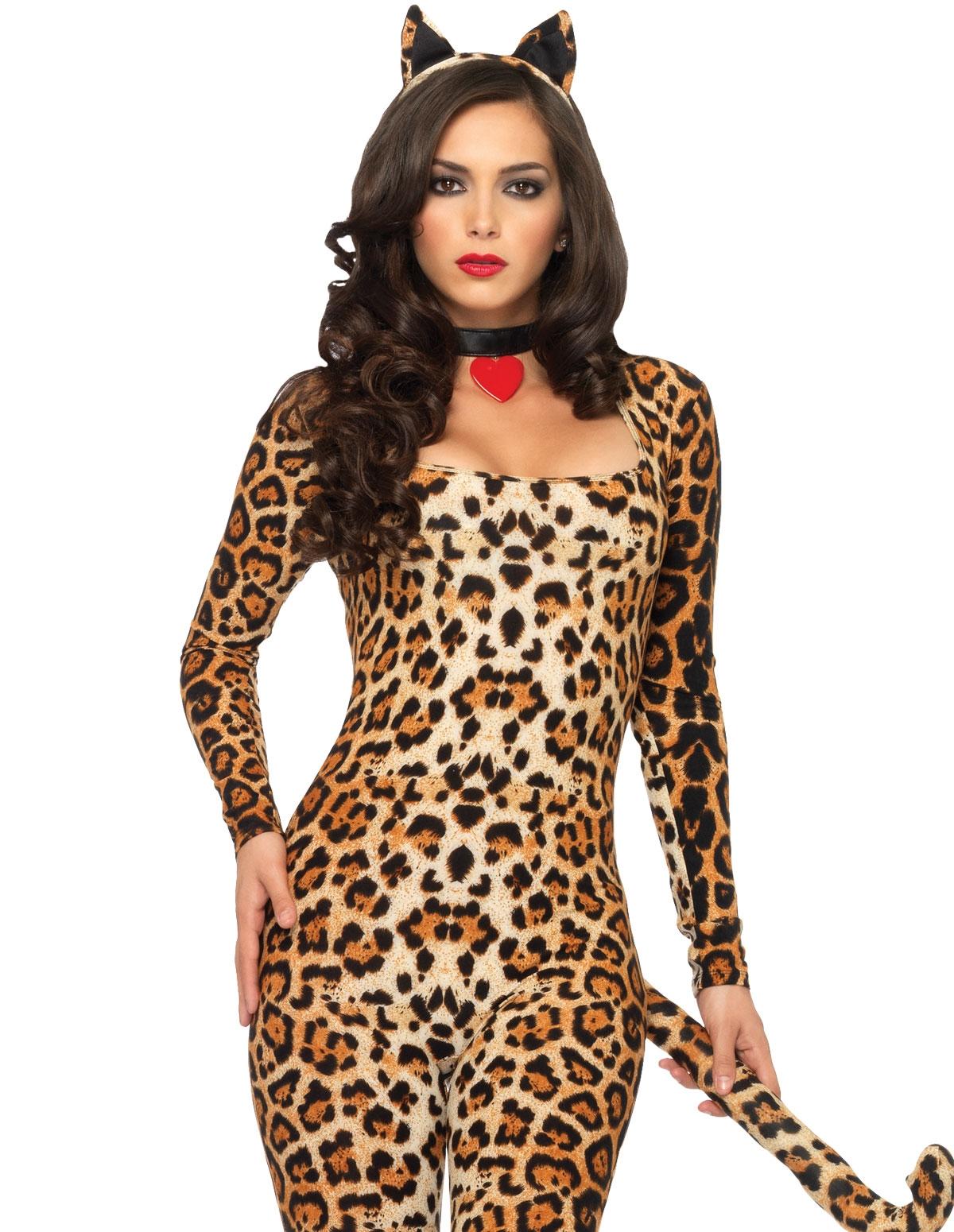 4Pc Cougar Costume