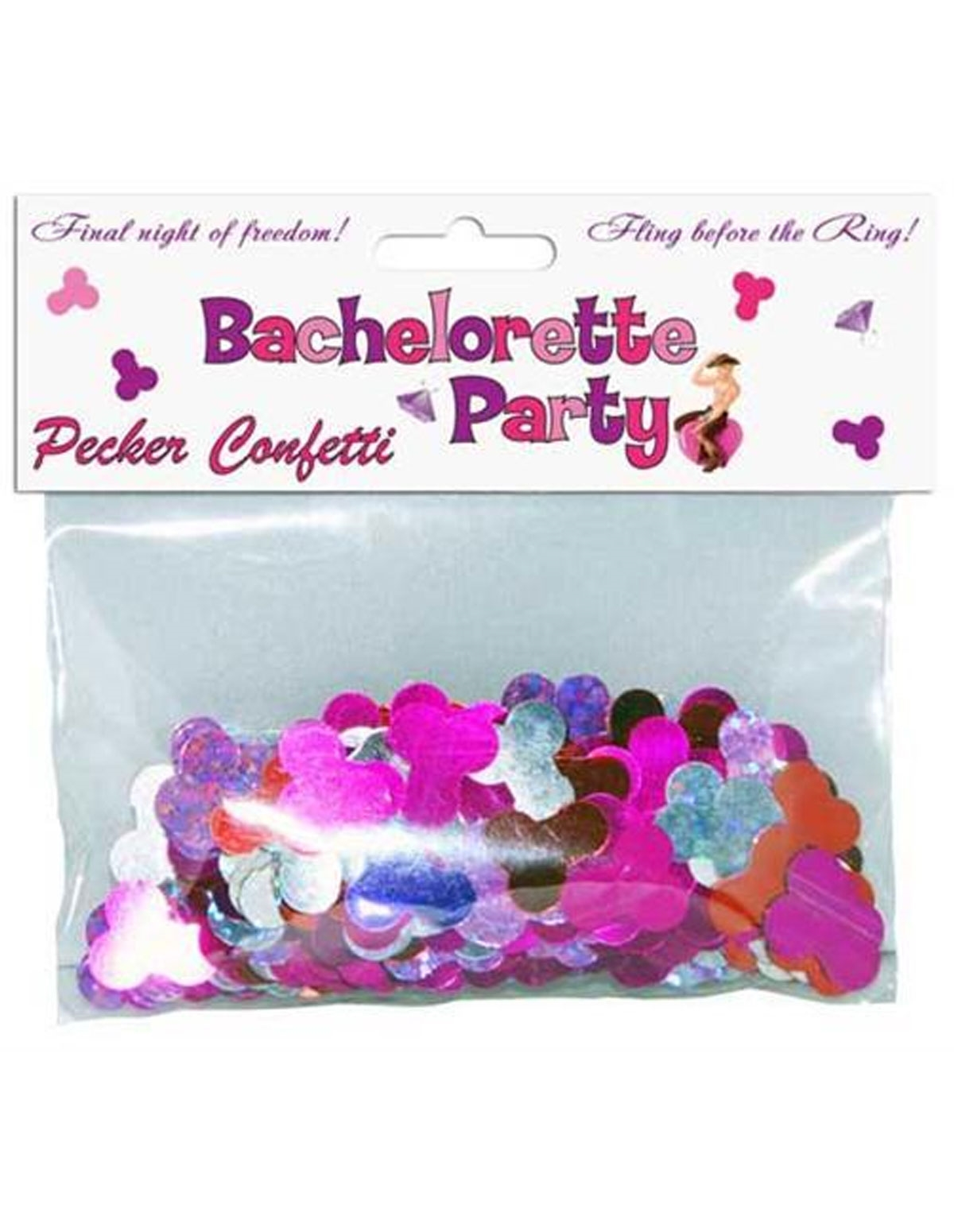 Bachelorette Pecker Party Confetti