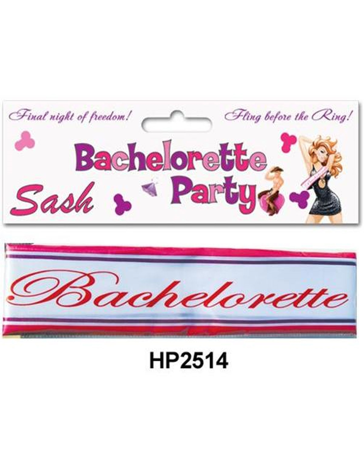 Bachelorette Silk Sash