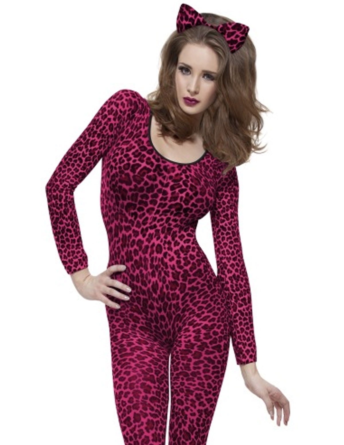 Leopard Fever Pink Bodystocking
