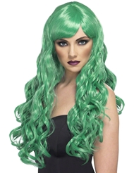 Alternate front view of DESIRE WIG GREEN