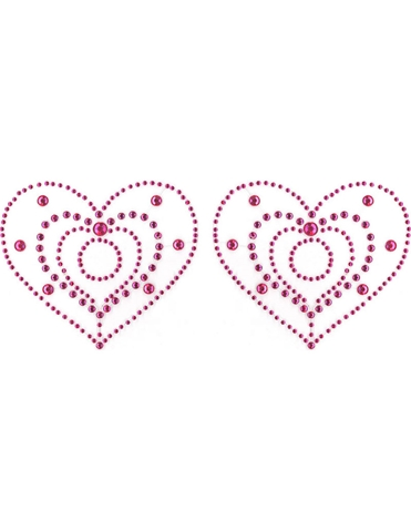 PEEKBOO CRYSTAL HEART PASTIES