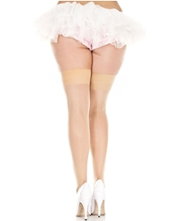 Alternate front view of BACKSEAM SHEER THIGH HIGH