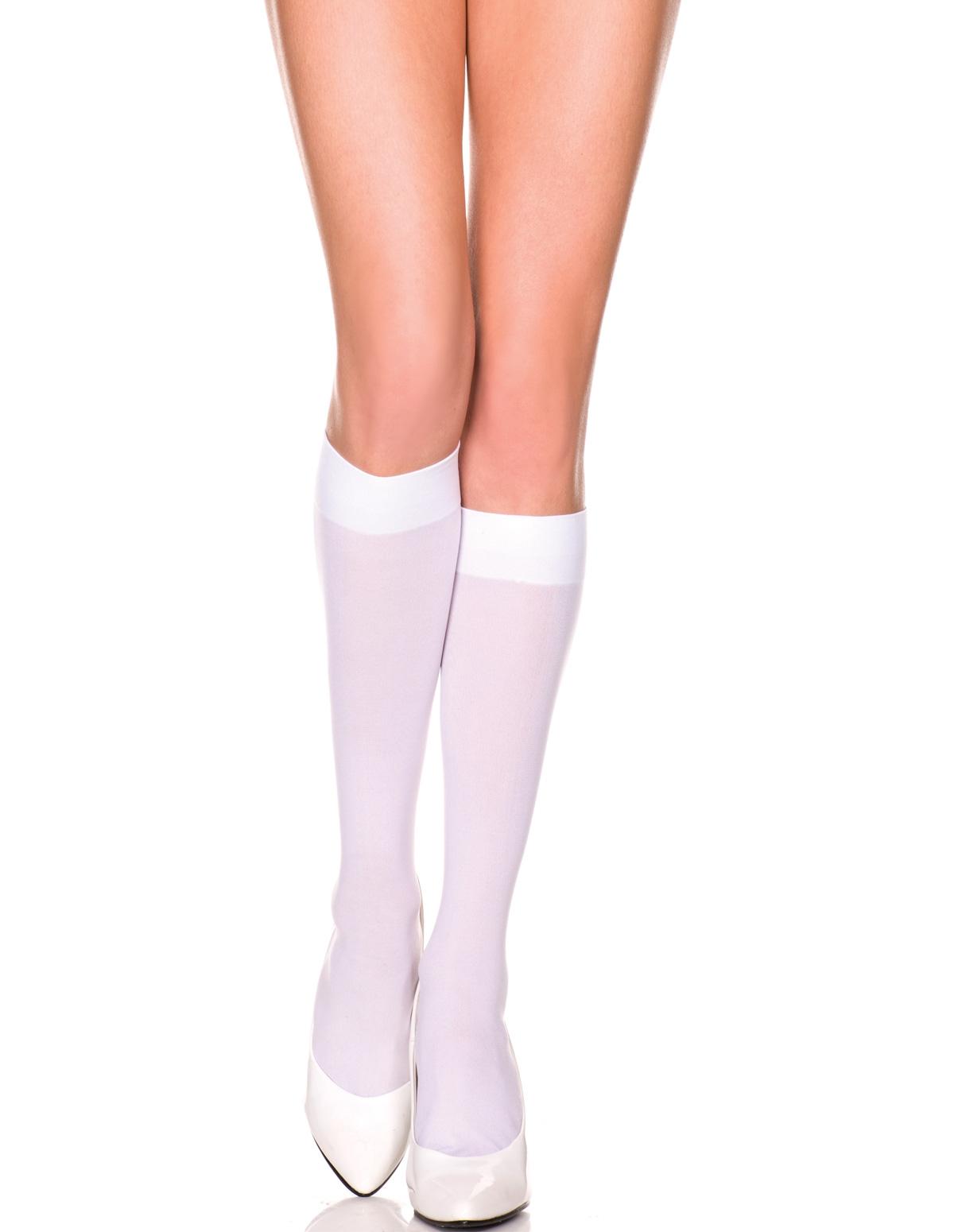 Opaque Knee High Socks