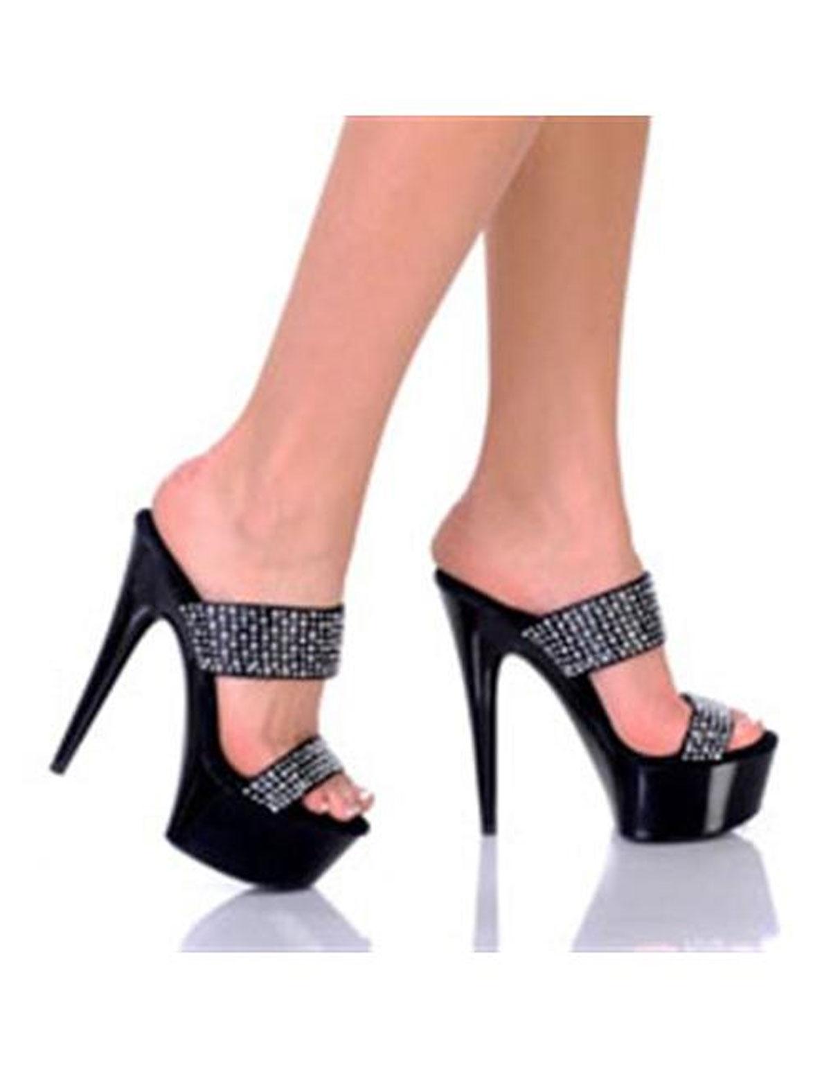 Amber Rhinestone Shoe