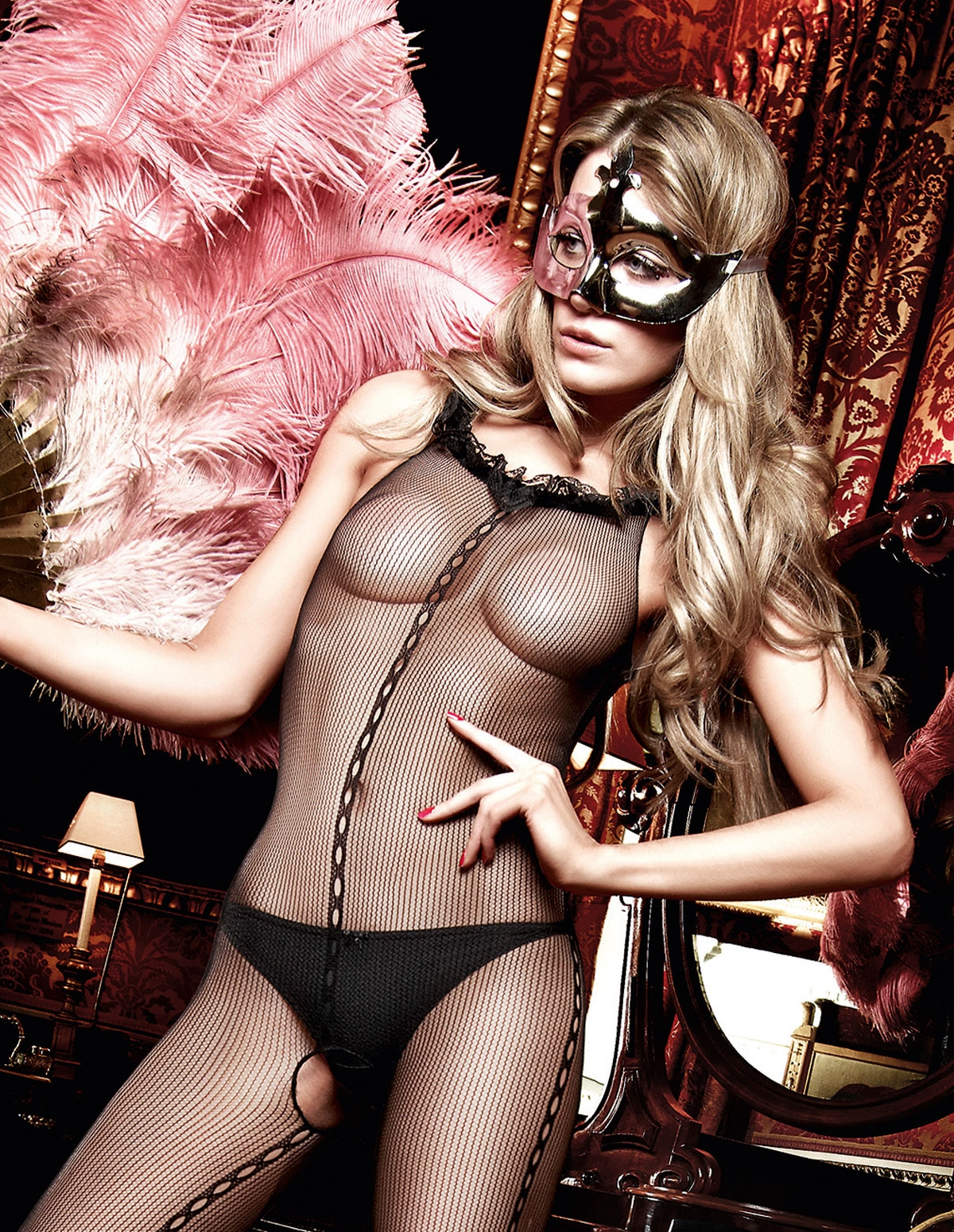 Ruffle Bodystocking