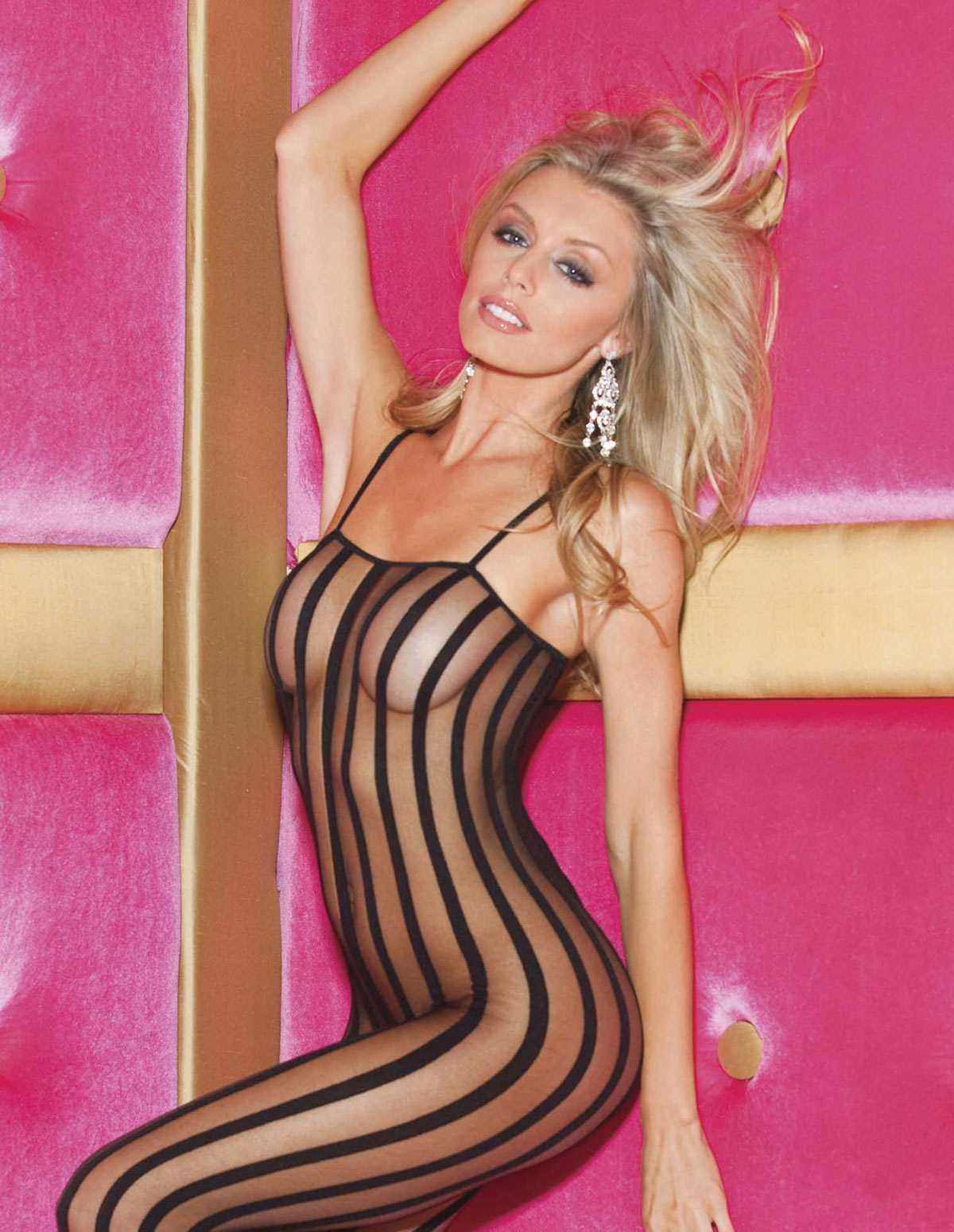 Sheer Stripe Bodystocking