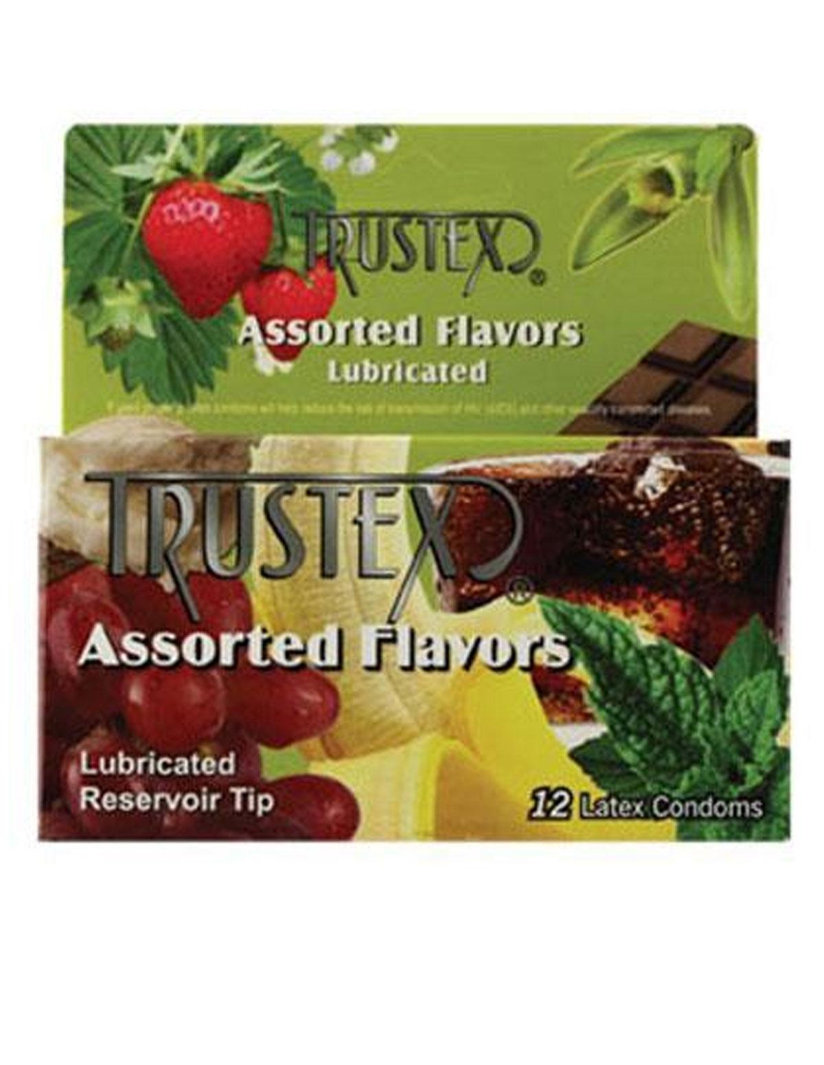 Trustex Asst Flavor Condom 12P