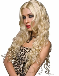 Alternate front view of JENNIFER WIG PLATINUM BLONDE