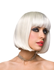 Alternate front view of CICI WIG - PLATINUM