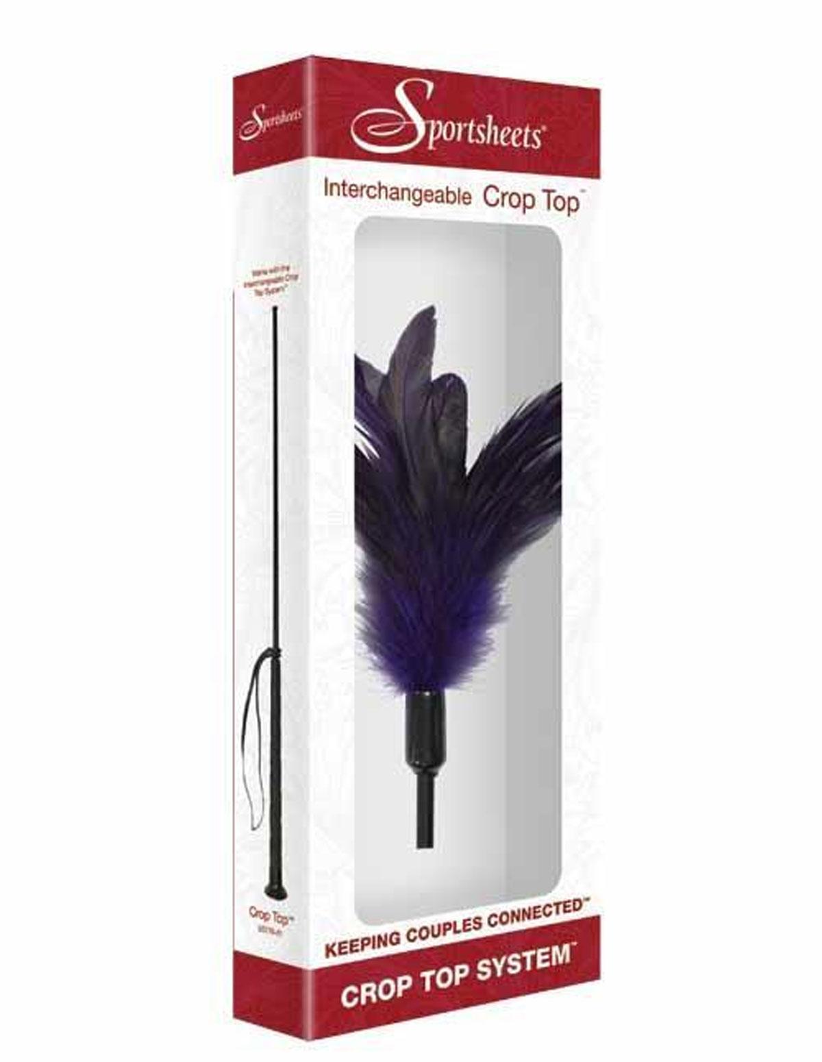 Interchangeable Feather Crop Top