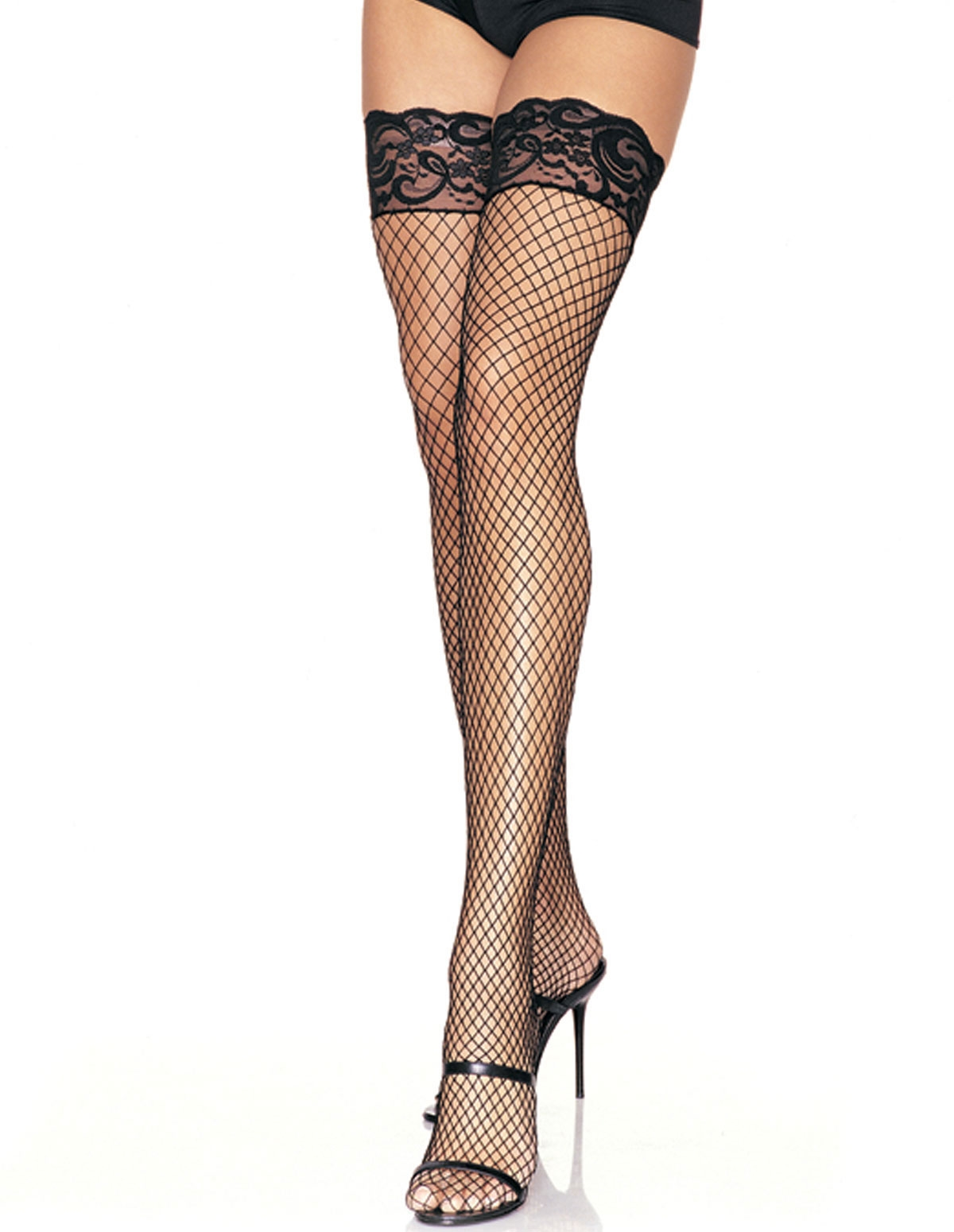 Stay Up Lace Top Fishnet Thigh High