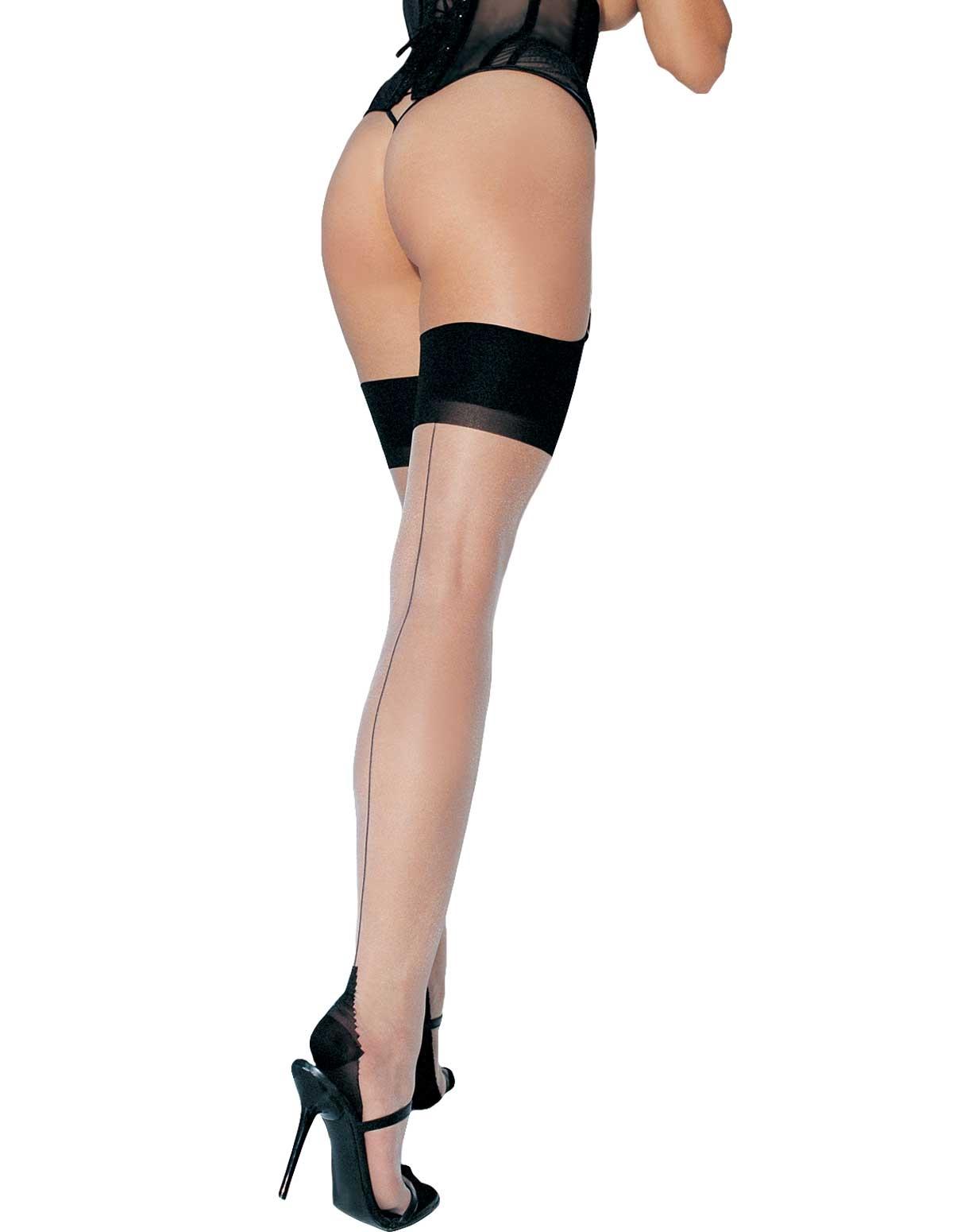 Cuban Heel Backseam Plus Size Stockings