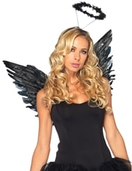 Alternate front view of 2PC ANGEL COSTUME KIT