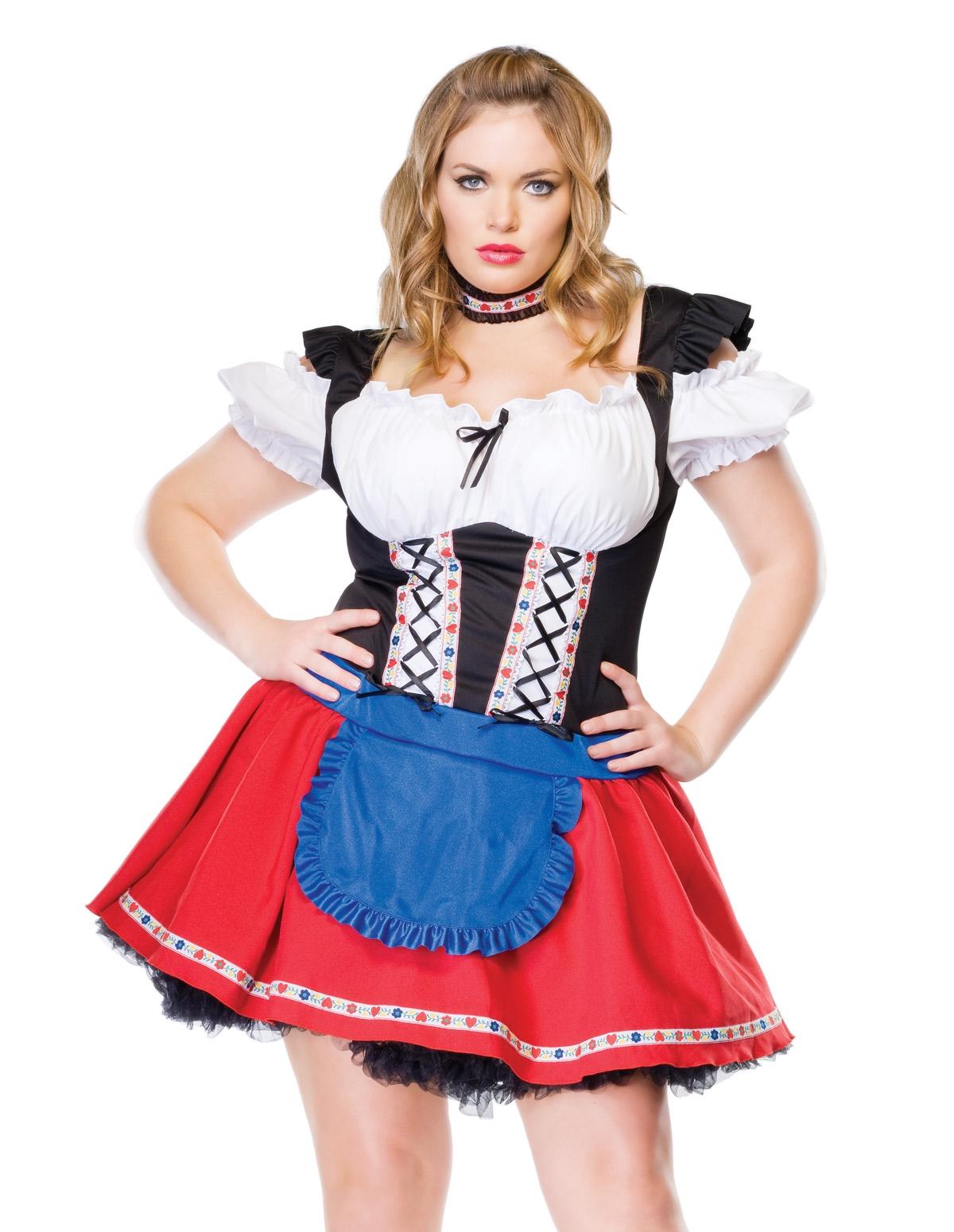 Frisky Frauline Costume - Plus