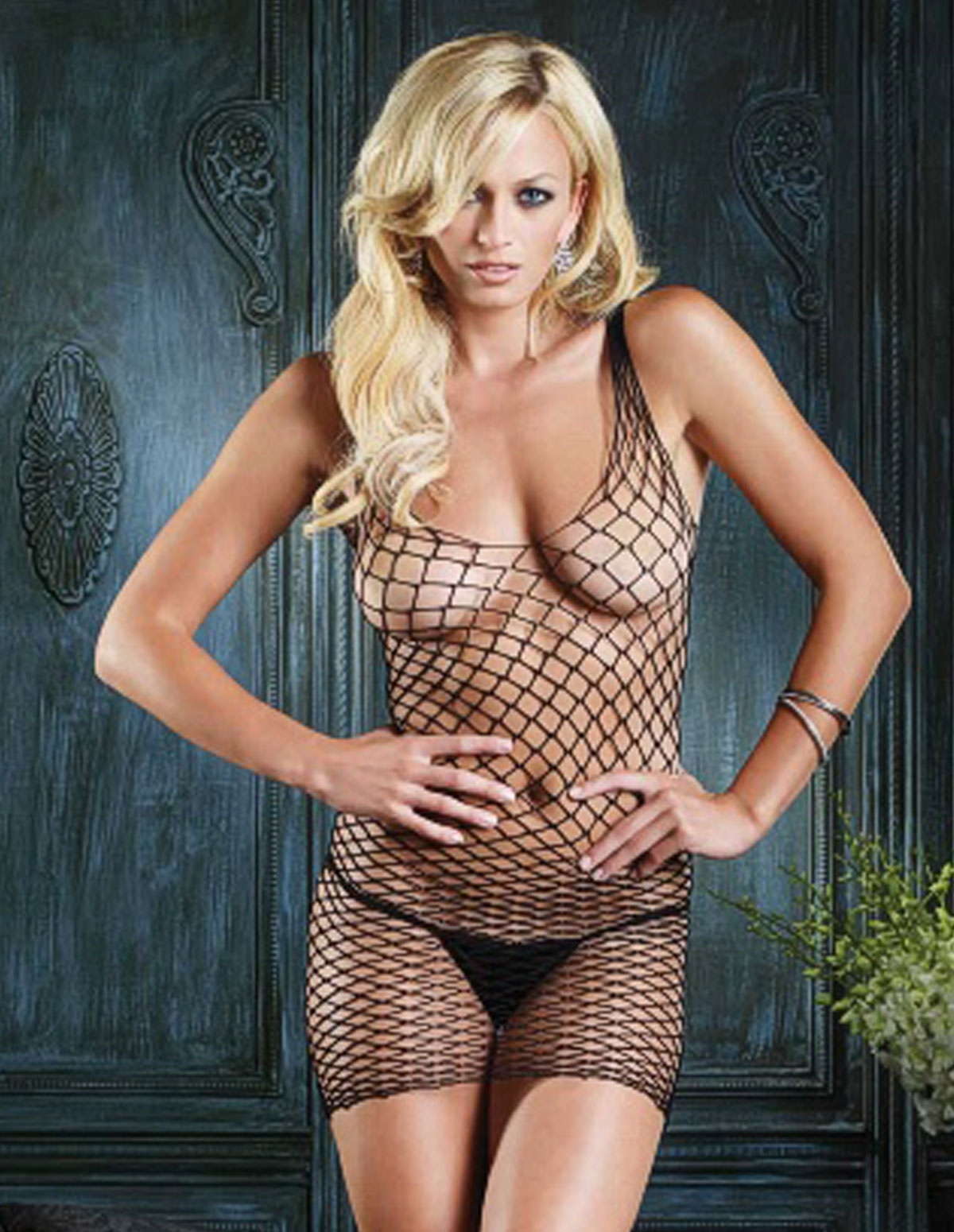 Diamond Net Mini Dress