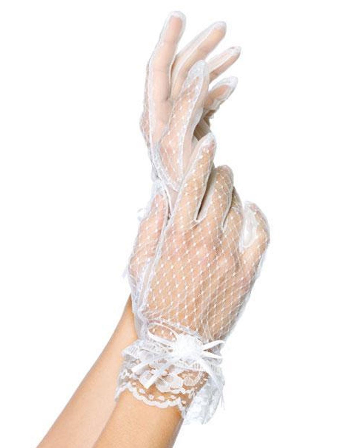 Lace Wrist Glove W/Bow