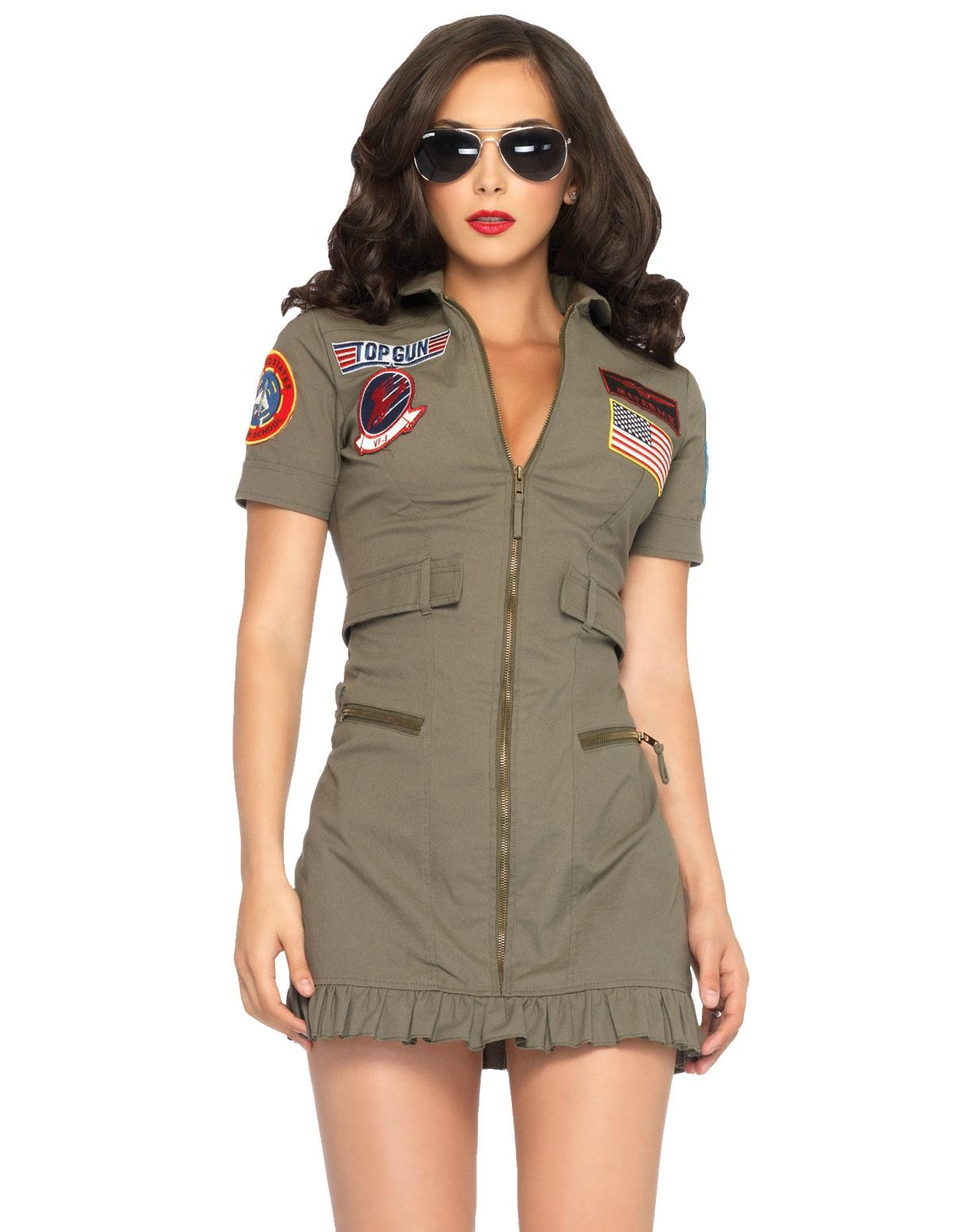 2Pc Top Gun Dress Costume