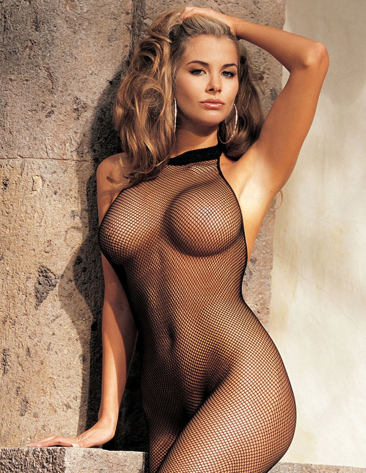 Fishnet Halter Bodystocking