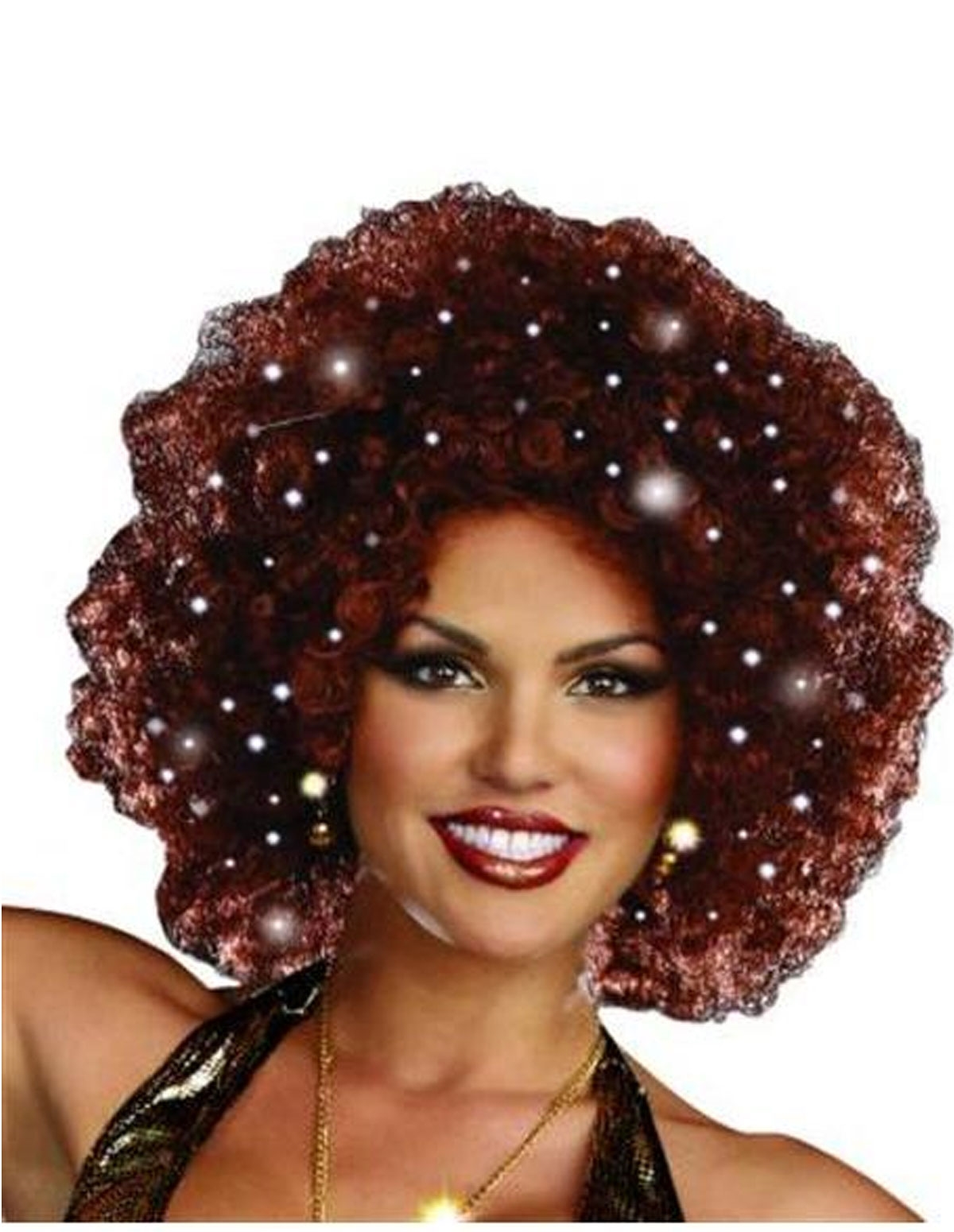 Light Up Afro Wig