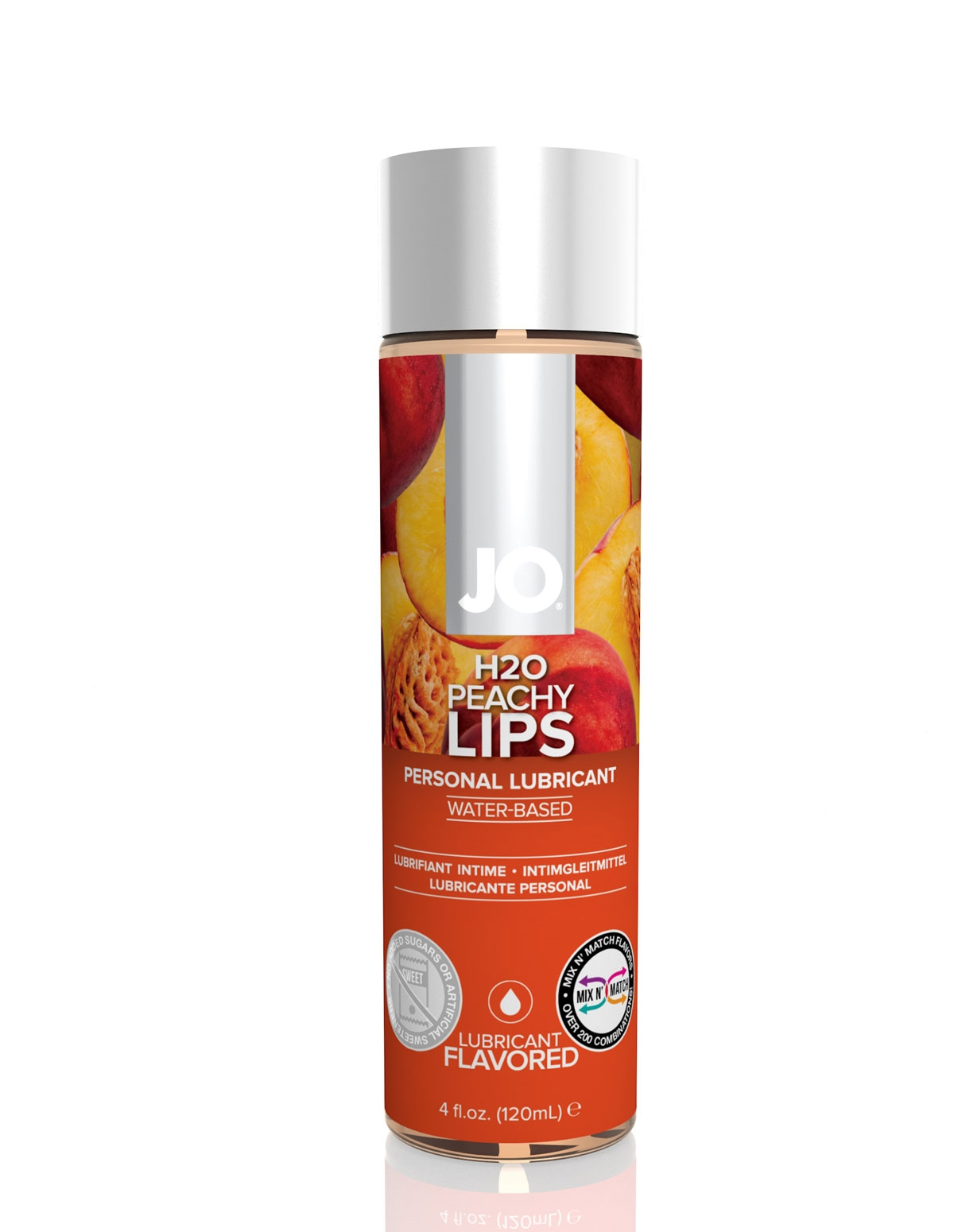 H2o Flavored Lubricant - Peachy Lips 5.25 Oz