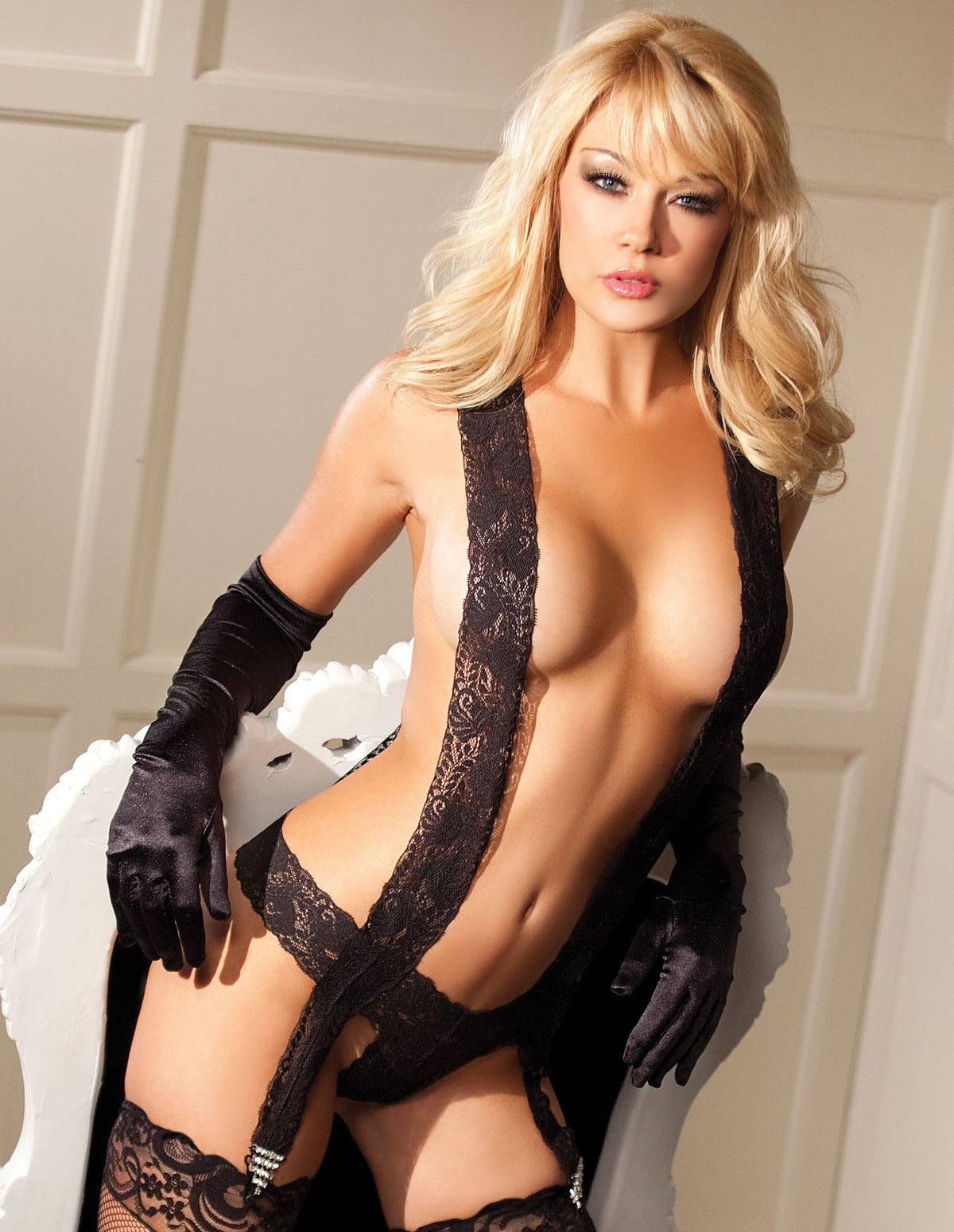 Lace Suspendered Teddy