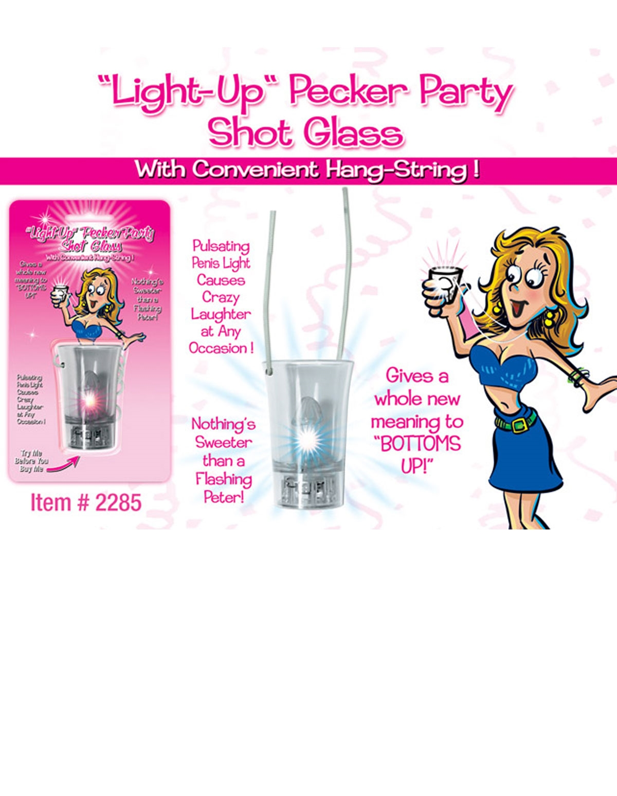 Hang String Light Up Shot Glass