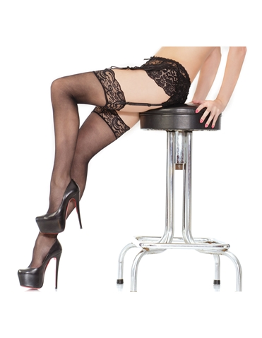 SHEER LACE TOP STOCKING - ALL SIZES