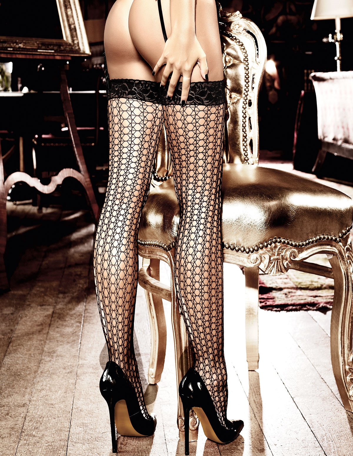 L/T Crochet Stockings
