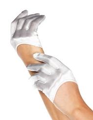 CROP SATIN GLOVES
