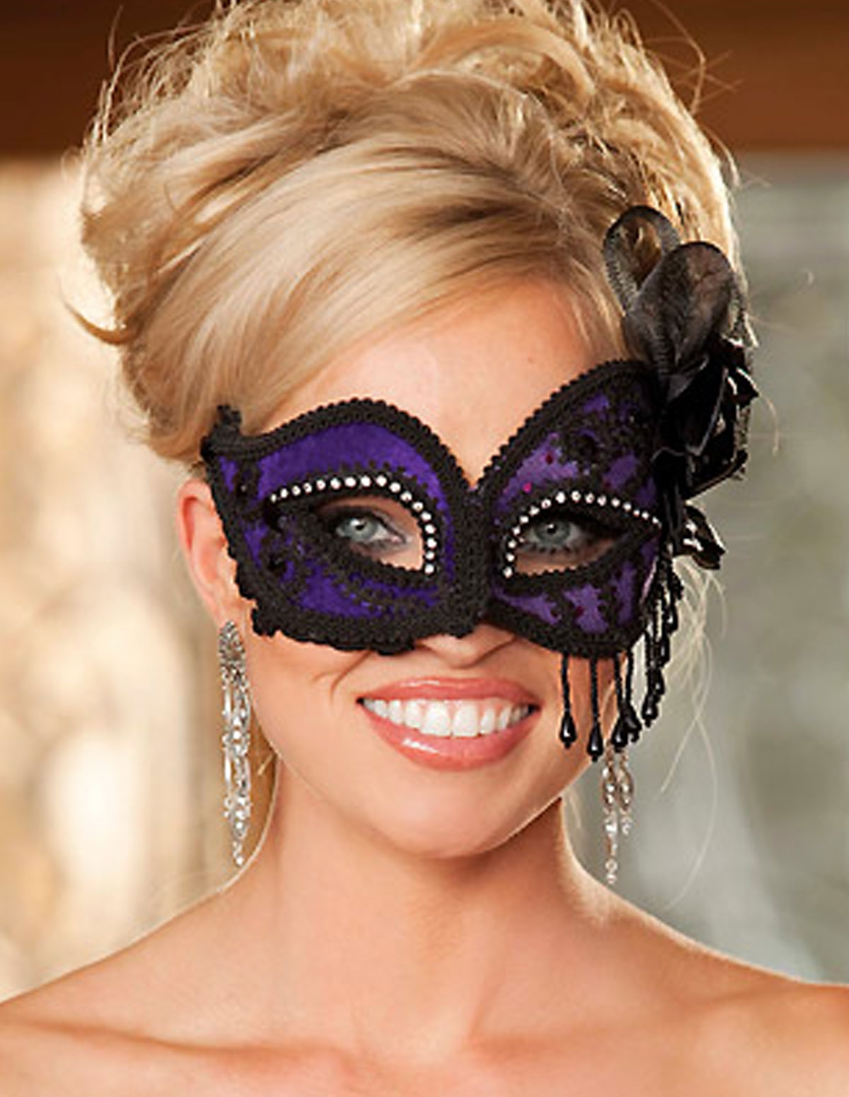 Satin Lace Mask