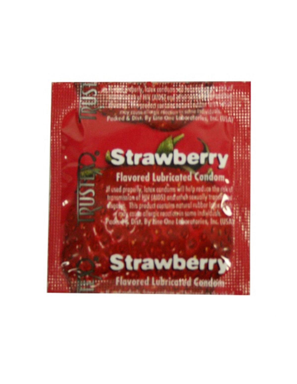 Trustex Strawberry Condom 3Pk