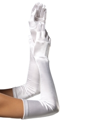 Alternate front view of SATIN OPERA GLOVES
