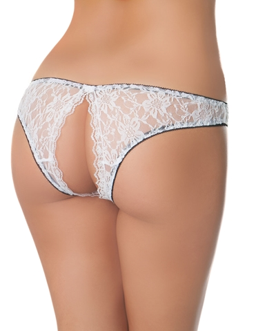 PEEK-A-BOO LACE TANGA - REG & PLUS