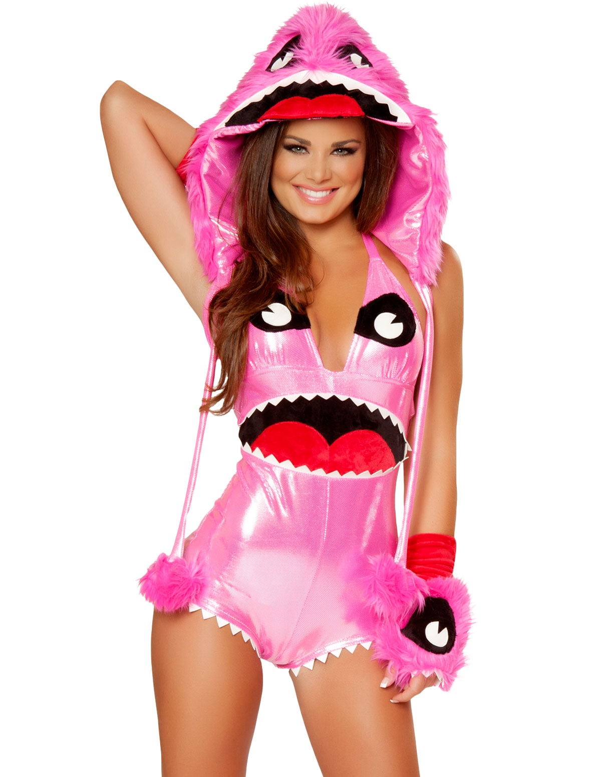 4Pc Pinky Monster Costume