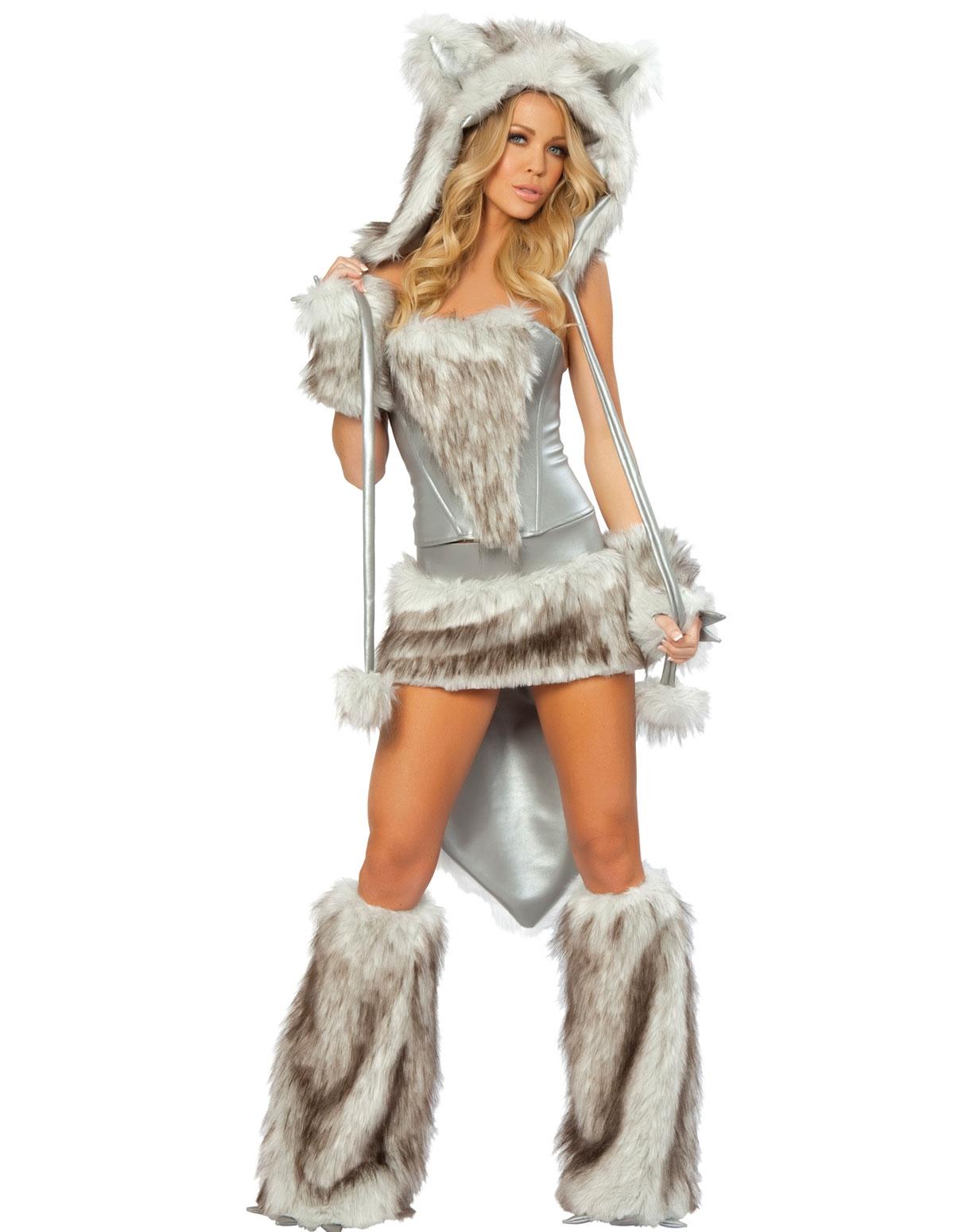 5Pc Sexy Wolf Costume