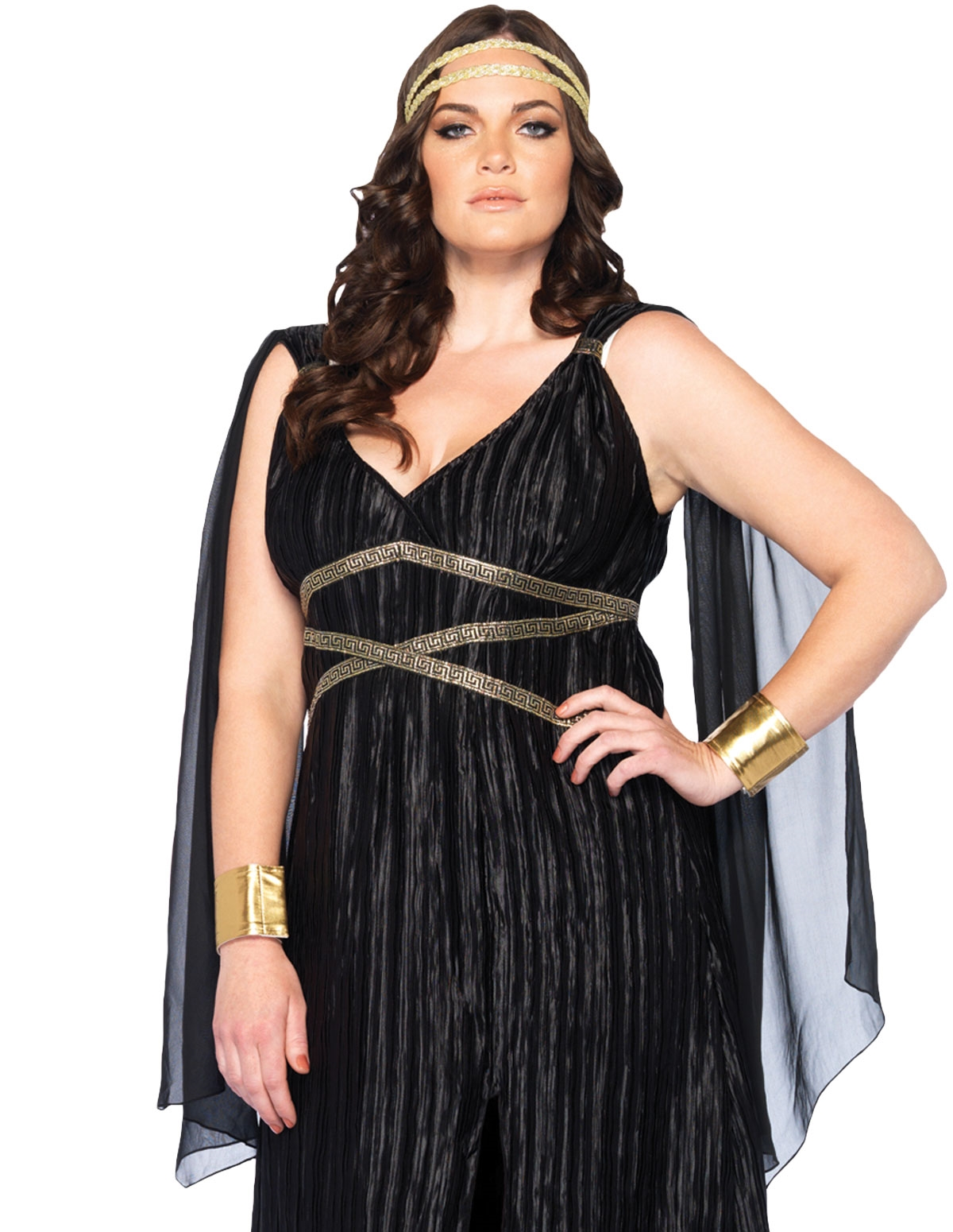 3Pc Dark Goddess Plus Size Costume