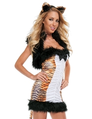 Alternate back view of TEASING TIGRESS COSTUME