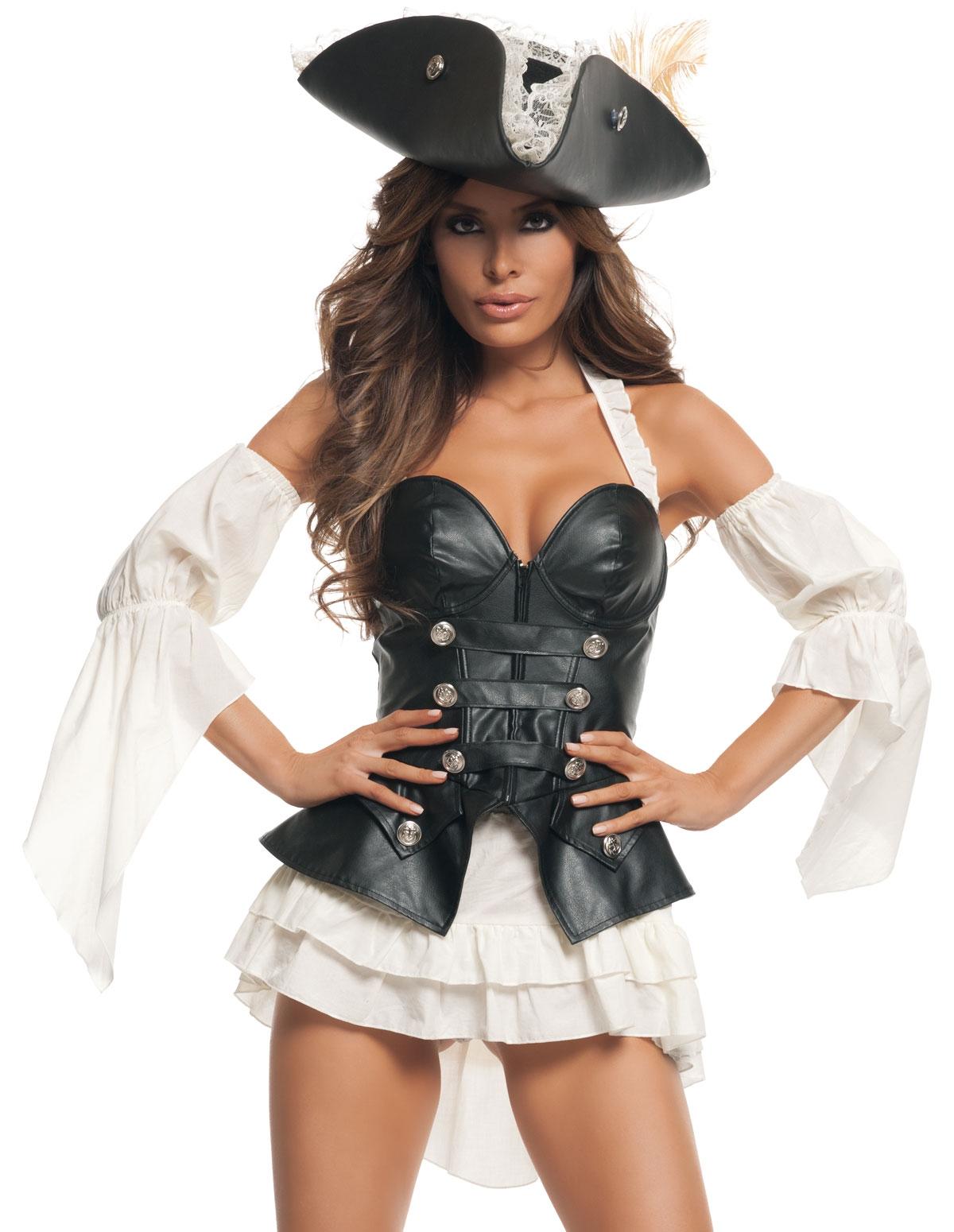 4Pc Black Pearl Costume