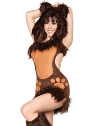 Alternate front view of BODACIOUS BEAR COSTUME
